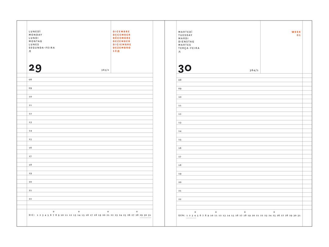 Daily Diary 18 Months Nava Design