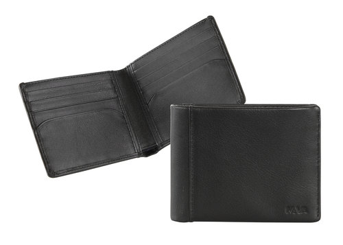 Smooth Men's wallet, small, 8 credit card slots