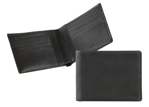 Smooth Men's wallet, 8 credit card slots