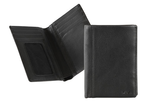 Smooth Men's vertical wallet, 7 credit card slots