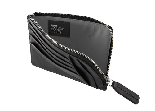 SmoothMen's wallet/card holder, w/6 credit card slots & zipper