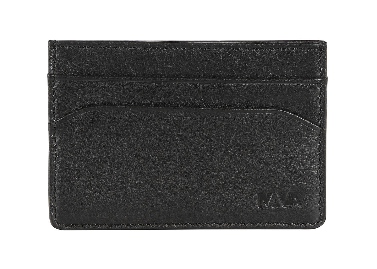 Leather credit card and business card holder - Smooth - NAVA