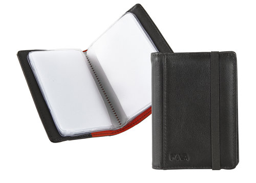 Smooth Pocket business card holder with elastic closure