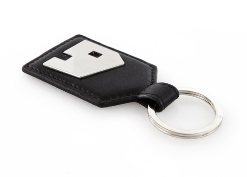 "Smooth Leather ""home"" key ring"
