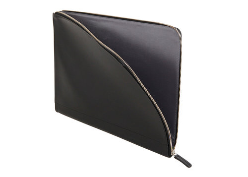 Smooth Leather underarm document holder with zip closure