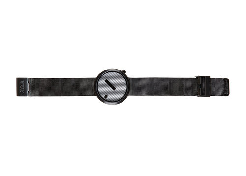Designer timepieces Jacquard with black mesh band