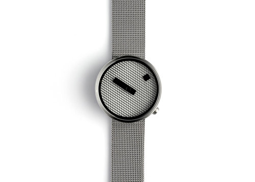 Designer watches Jacquard with steel mesh band