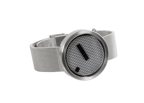 Designer timepieces Jacquard with steel mesh band