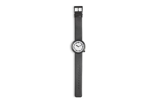 Designer timepieces Enigma wristwatch with leather strap