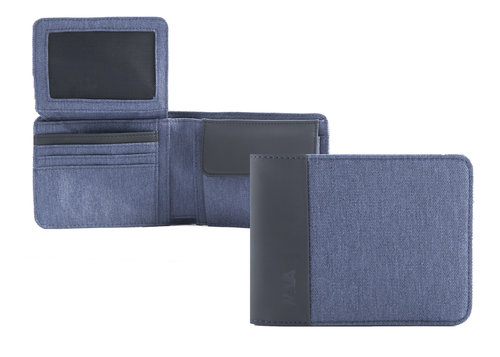 Twin Men's wallet with vertical flap, 8 cc slots and RFID