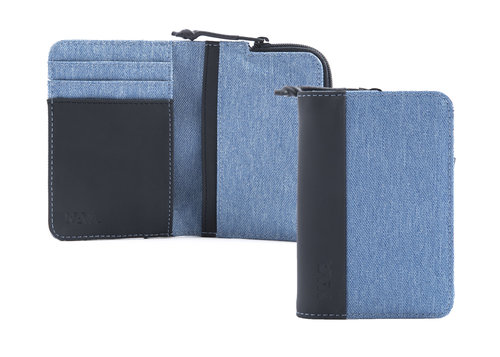 Twin Credit card holder with 4 cc slots, coin pocket and RFID