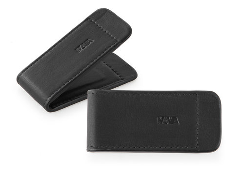 Smooth Leather money clip