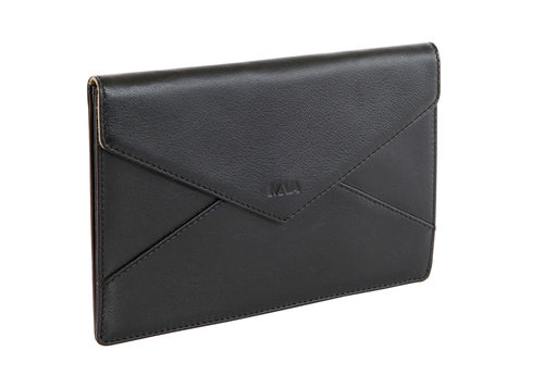 Smooth Leather pouch with pressure button closure