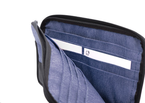Twin Carry all pouch closed with zipper, 12 cc slots and RFID