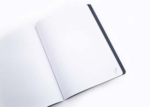 ECO 1 notebook Large notebook made of recycled paper with blank pages
