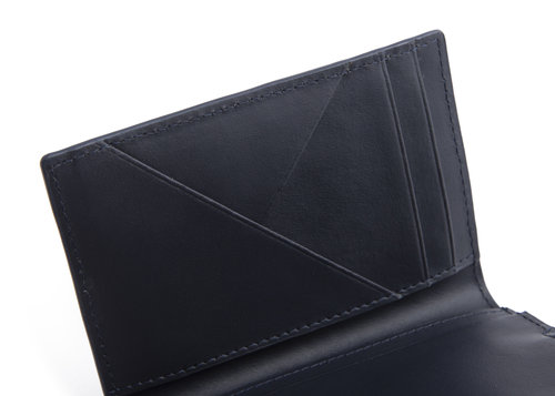 Metric Leather credit card holder with 6 cc slots and coin pocket