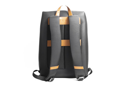 Solid Organized laptop backpack with large front pocket