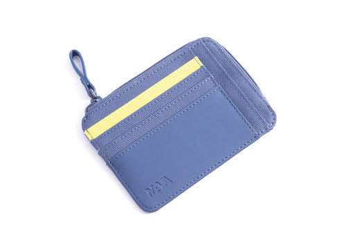 Twin Colors Document and credit card holder with zip closure,8 cc slots
