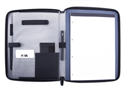 Motion A4 zip portfolio with carrying handle