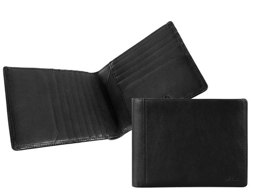 Smooth Men's wallet, 12 horizontal credit card slots