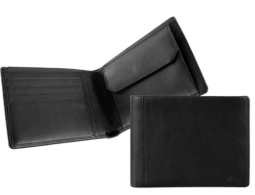 Smooth Men's wallet, 4 credit card slots & coin pocket