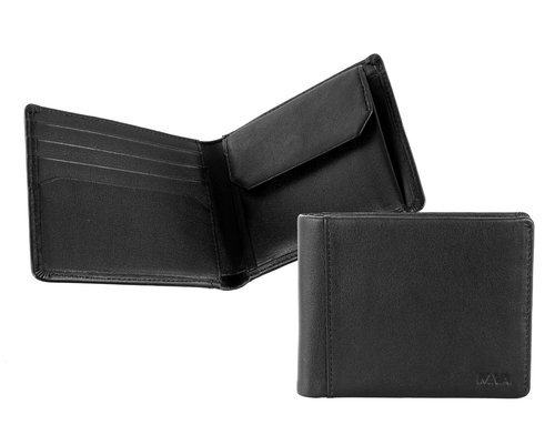 Smooth Men's wallet, small, 4 credit card slots & coin pocket