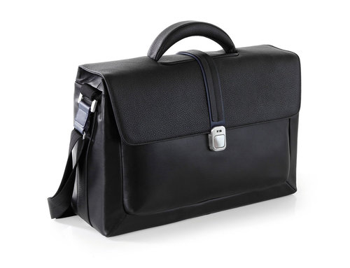 Courier Leather Borsa uomo da lavoro, 1 comparto, porta PC e iPad