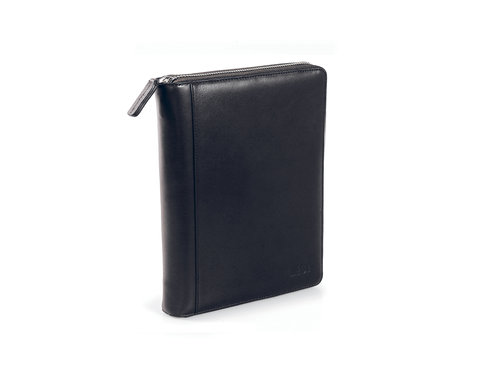 Smooth Looseleaf organizer with leather cover, format 9,5X17 cm
