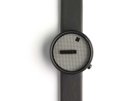 Designer timepieces Jacquard with leather strap