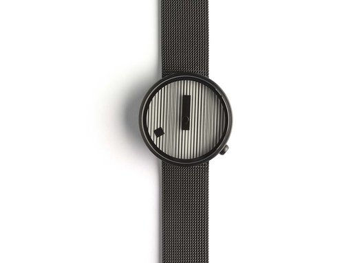 Designer watches Jacquard with black mesh band