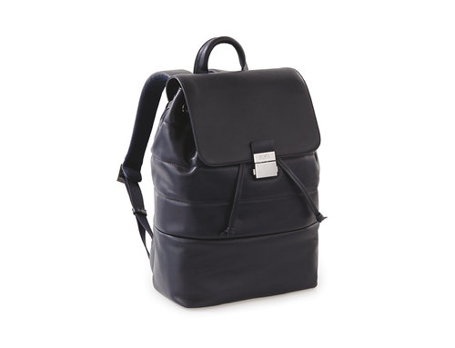 Passenger Leather Zaino con flap, coulisse e chiusura in metallo