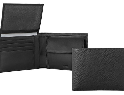 Via Durini Men's wallet RFID 7 cc with vertical flap and coin case