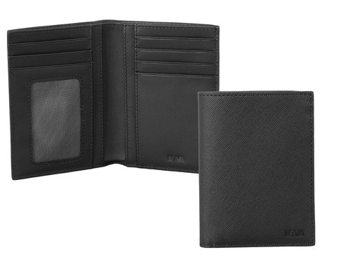Via Durini Men's vertical wallet RFID 7 cc