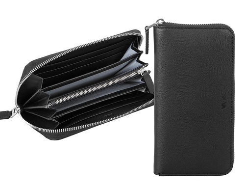 Via Durini Women's RFID zip around wallet 8 cc and coin case
