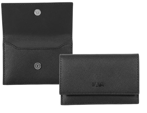Via Durini Business card holder with magnetic closure