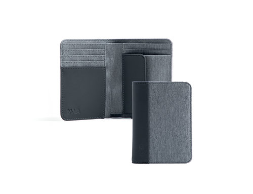 Twin Men's vertical wallet with 6 cc slots,coin pocket and RFID