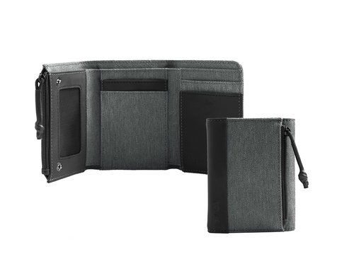 Twin Trifold wallet with 6 cc slots, coin pocket and RFID