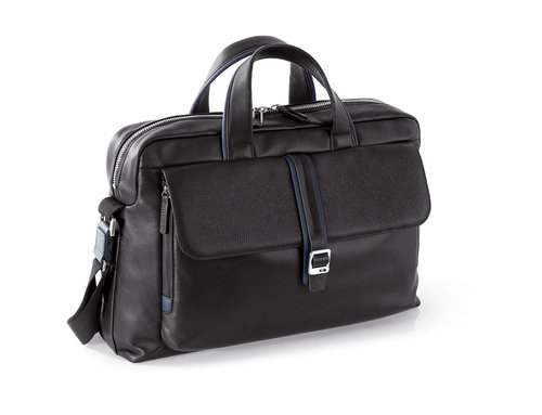Courier Leather Work bag, 2 handles, removable shoulder strap