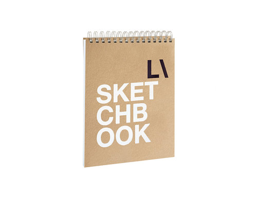 ECO 1 sketchbook Large notepad made of recycled paper with blank pages
