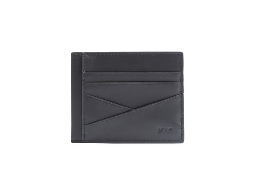 Metric Leather credit card holder closed with button, 7 cc slots