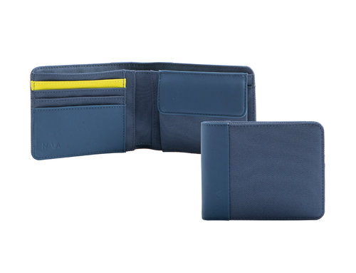 Twin Colors Men's wallet with 4 cc slots and coin pocket