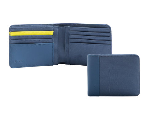 Twin Colors Men's wallet with 8 cc slots