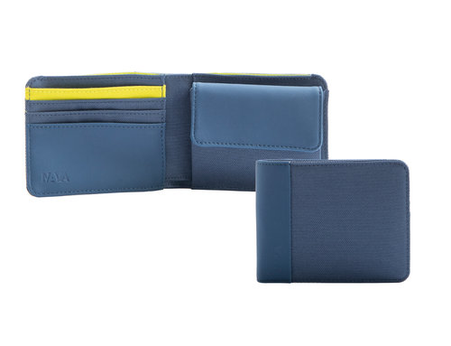 Twin Colors Men's wallet slim with 4 cc slots and coin pocket