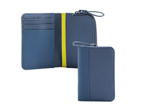 Twin Colors Vertical credit card holder with 4 cc slots and coin pocket